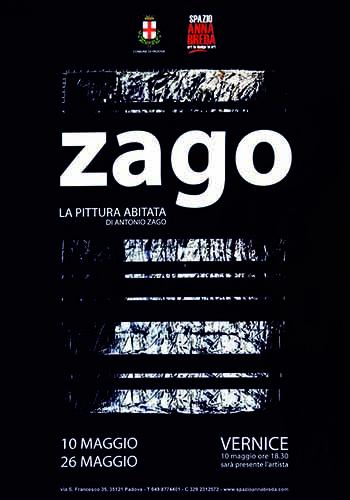 Galleria Spazio Anna Breda - Padova - anno 2012 - La pittura abitata - antonio zago